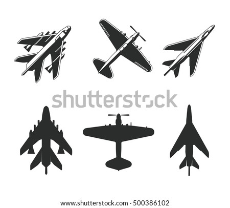 aircraft isolated vector