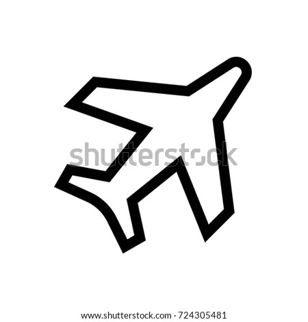 aircraft plane icon vector fat