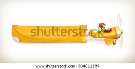 aircraft vector banner