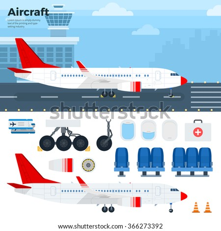 aircraft vector flat