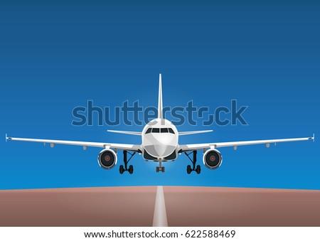 aircraft vector  take off plane
