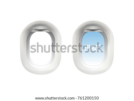 Aircraft Windows,airplane windows,window of airplane,vector illustration.