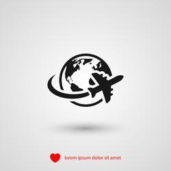 aircraft world vector icon