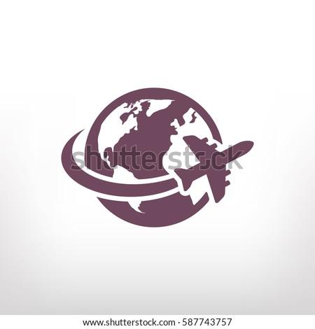 aircraft world vector icon stock photo