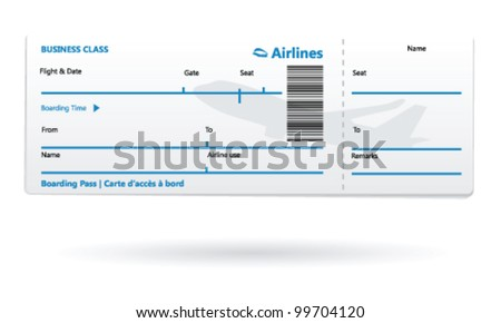 Airline Boarding Pass Blank  Blank Printable Tickets