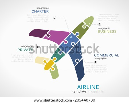 airline concept infographic