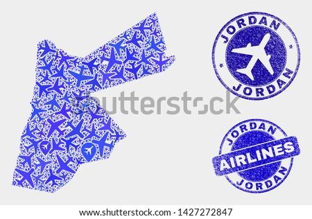 airlines vector jordan map