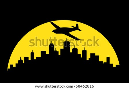 airplane above sky at night