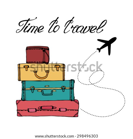 airplane and suitcase the
