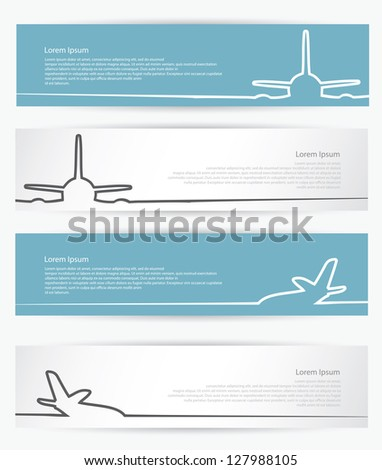 Airplane banners - vector illustration