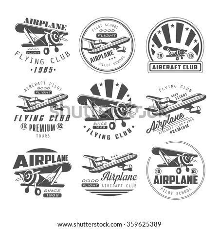 airplane club vector