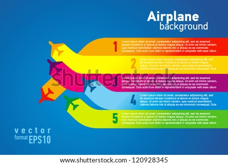 airplane colored list background