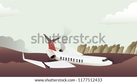 airplane crashed accident