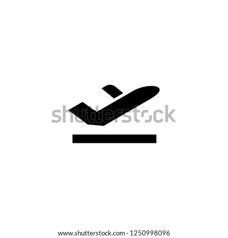 airplane departure vector icon. airplane departure sign on white background. airplane departure icon for web and app