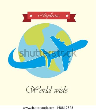 airplane design over white background vector illustration