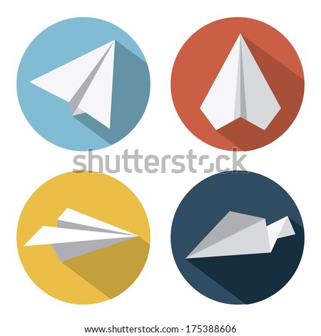 airplane design over  white