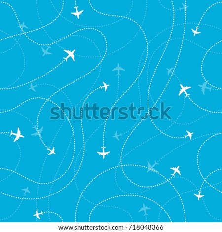 airplane destinations seamless