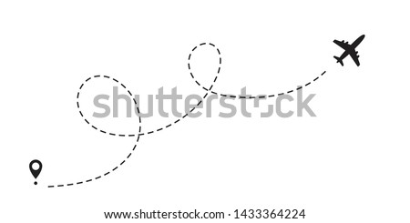 airplane dotted path  aircraft