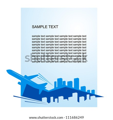 airplane flight tickets air fly cloud sky blue travel blank city vector