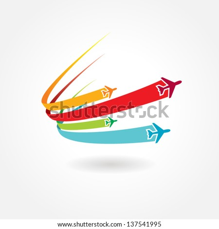 airplane flight tickets air fly travel takeoff colorful element