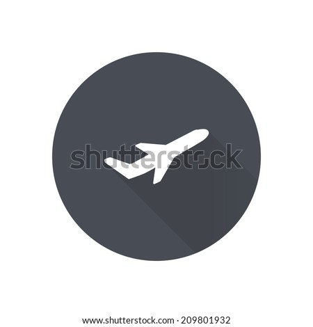 Airplane flight tickets air fly travel takeoff silhouette element Plane symbol Travel icon Flat design EPS 10
