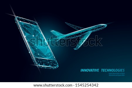 airplane flying from smartphone