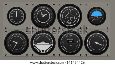 Airplane flying gages
