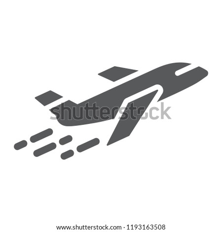 airplane glyph icon  aircraft
