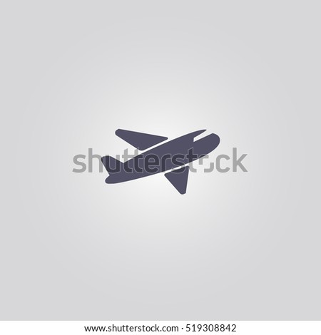 airplane icon aircraft sign