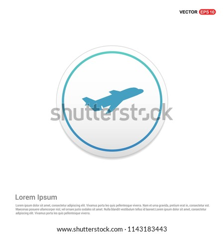 Airplane icon Hexa White Background icon template - Free vector icon