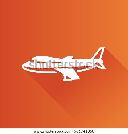 Airplane icon in Metro user interface color style. Aviation transportation travel