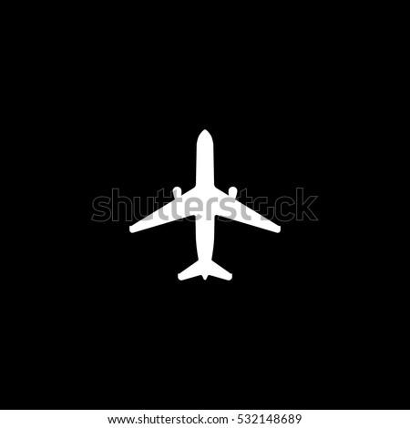 airplane icon, isolated, white background