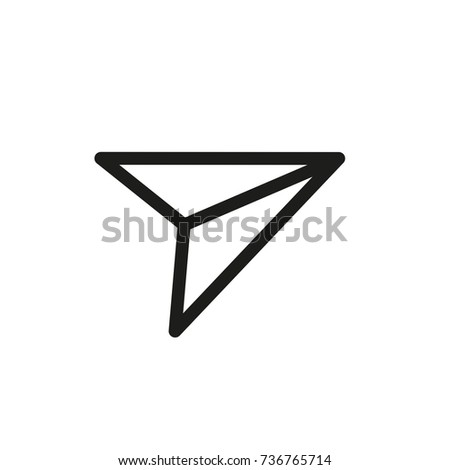 airplane icon send message thin line icon web vector mark logo infographic elements business icon chat talk conversation friends post mail email
