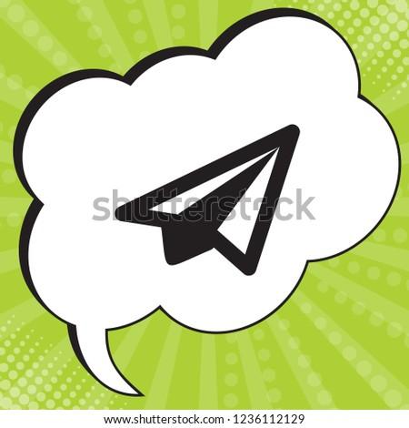 airplane icon vector black