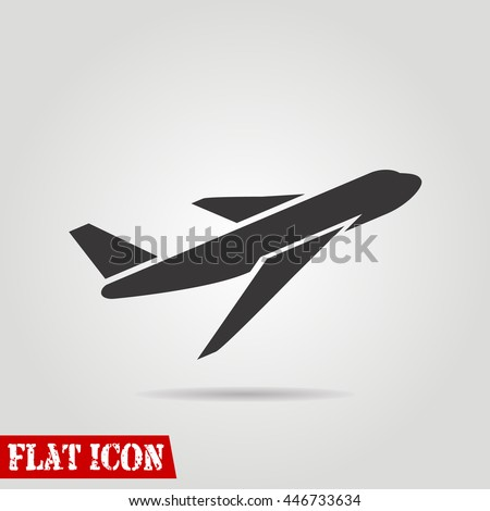 airplane icon vector icons eps10 eps jpg picture flat app