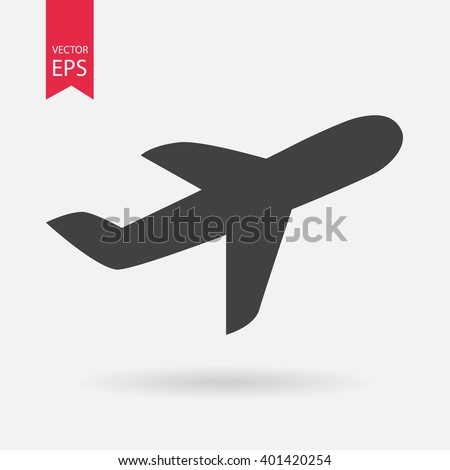 Airplane icon vector. Transportation, flight, travel,  fly concept. Airport Sign Isolated on white background. Trendy Flat style for graphic design, logo, Web site, social media, UI, mobile app, EPS10