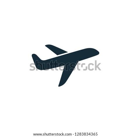 Airplane Icon Vector Transportation Logo Template Stock photo ©