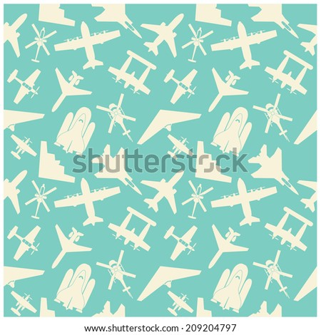 airplane  icons and  background