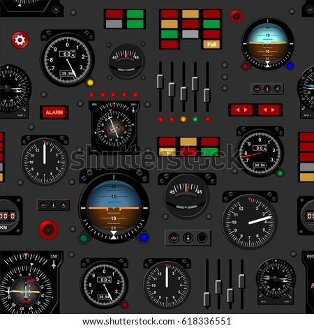 airplane instrument panel