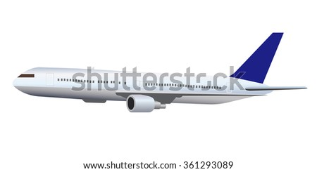 Airplane jet aviation icon