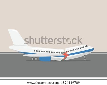airplane landing crash