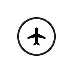 Airplane Mode Icon Vector. Plane Symbol Image