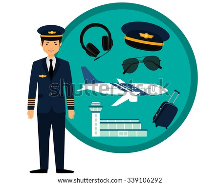 airplane pilot in uniform and