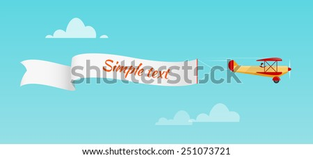 Airplane pulls advertising banner