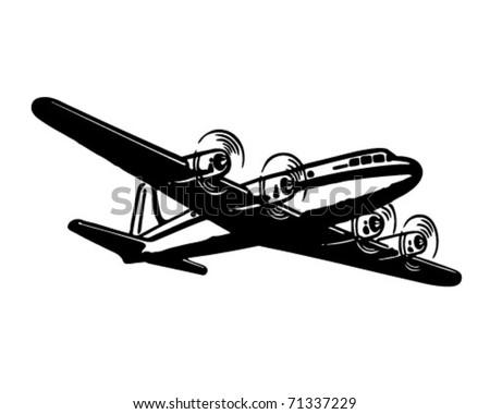 Airplane - Retro Ad Art Illustration
