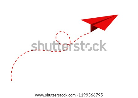 airplane route in the dotted