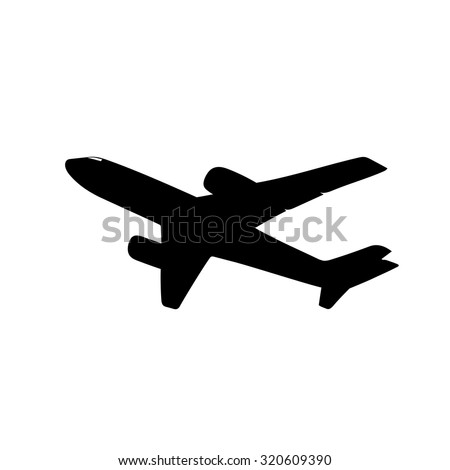stock-vector-airplane-silhouette