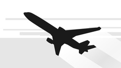 Airplane Silhouette / EPS10 Vector