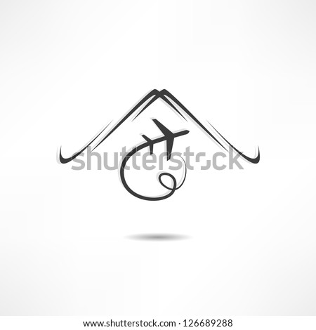 airplane symbol - stock vector