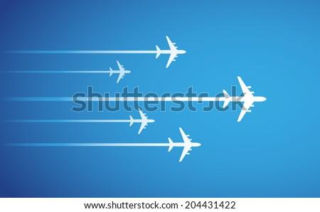 airplane symbol vector design